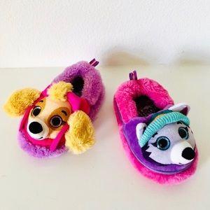 Paw Patrol Puppy Dog Pink Purple Slippers_Sz 5/6